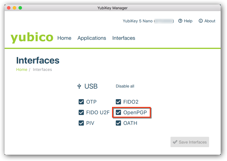 Yubikey Manager enabling CCID mode